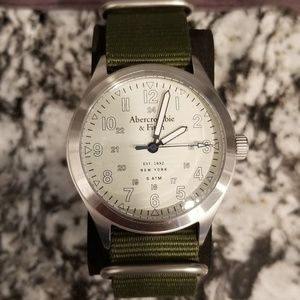 Abercrombie and Fitch military green watch